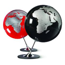 Anglo Red Contemporary Globe