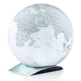 White Contemporary Desk Globe