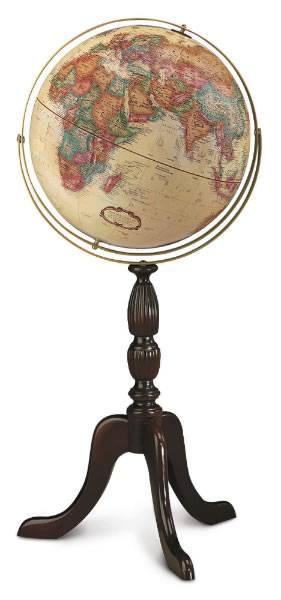 Stylish floor globe
