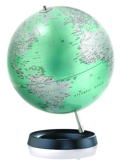 Modern and stylish table top world globe