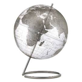 Silver World Contemporary Globe