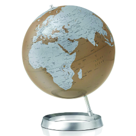 Almond Contemporary Desk Globe