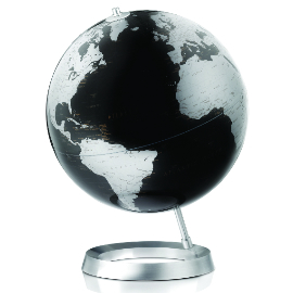 Black Contemporary Desk Globe