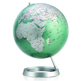 Mint Contemporary Desk Globe
