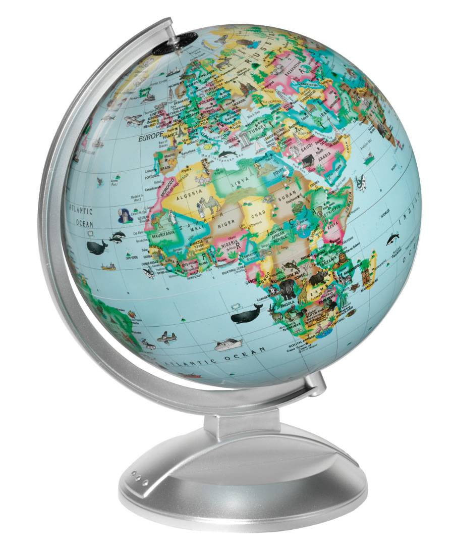 An illustrated world globe for young children an illustrated globe for children gumiabroncs Image collections