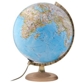 Gold Classic Illuminated Globe