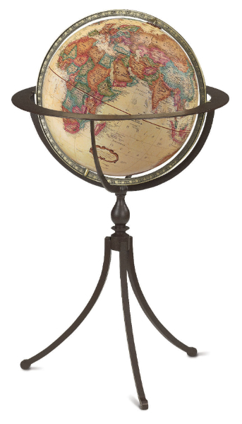 A quality floor standing globe