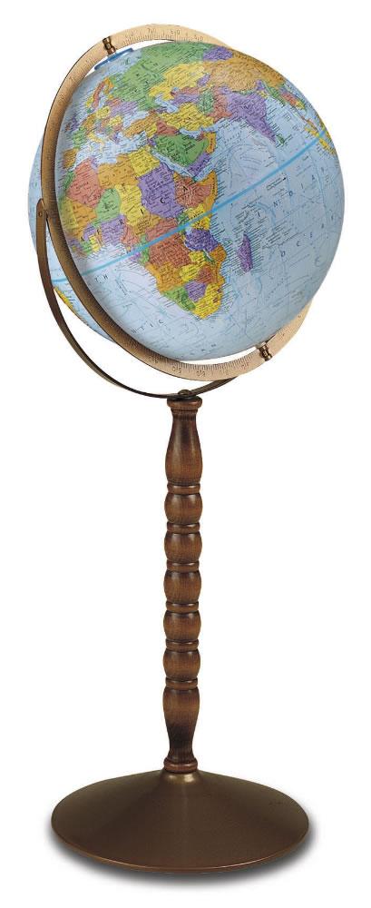 The Treasury Floor Standing World Globe